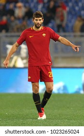 ROME, ITALY - FEBRUARY 11,2018: Federico Fazio during football match serie A League 2017/2018 between AS Roma vs Benevento at the Olimpic Stadium in Rome.