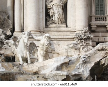 Rome, italy - February 2, 2011 : The Trevi Fountain