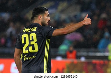 ROME, ITALY - January 27,2019: Emre Can during football match serie A League 2018/2019 between SS Lazio versus Juventus at the Olimpic Stadium in Rome.