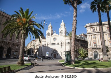 Rome, Italy - July 15, 2016: Valdese Evangelical church at Piazza Cavour. church was founded in the 12th century by Peter Waldo, and centuries later