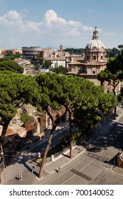 ROME, ITALY - JULY 20, 2013 : View on Rome from above.