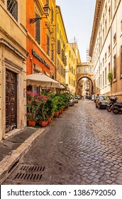 Rome, Italy - July 22, 2018: Quiet streets