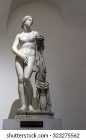 ROME, ITALY - JULY 30 2015: Marble statue of Aphrodite by Cnidus at the Palazzo Altemps. Ancient Roman copy after a Greek original of the 4th century.