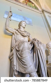 ROME, Italy - July 9, 2010: The Vatican Museums are Christian and art museums located within the city boundaries of the Vatican City