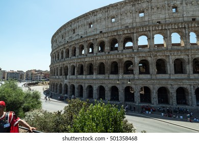 ROME ITALY - JULY 9,2016: Colosseum in Rome, Italy