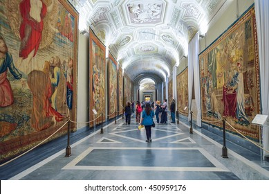 Rome, ITALY - JUNE 01: The Vatican Museum in Rome, Italy on June 01, 2016