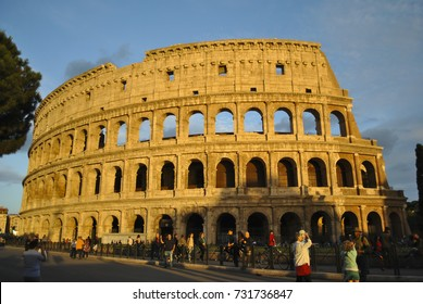 ROME, ITALY -JUNE 11, 2016: Colosseum - amphitheatre, a monument of architecture of Ancient Rome