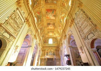 ROME ITALY - JUNE 14, 2019: Chiesa di Sant Andrea della Valle church Rome Italy