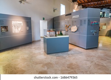 ROME, ITALY - JUNE 14, 2019:  The Crypta Balbi is a part of the National Roman Museum (Museo Nazionale Romano)  in Rome, Italy.