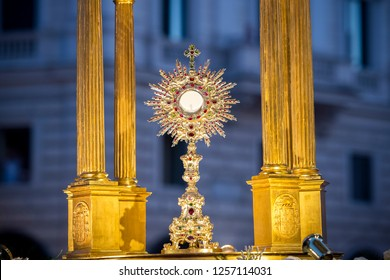 Rome Italy, June 18, 2017: Pope Francis leads Holy Mass in the St. John Lateran for the solemnity of the Corpus Domini.