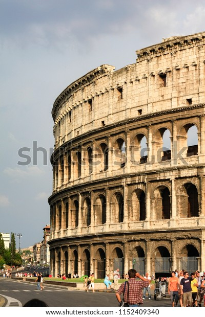 Rome, Italy - June 1st, 2018: View of the Colosseum in Rome.