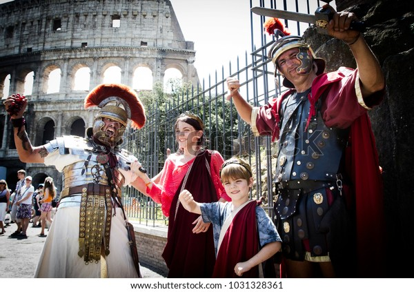 Rome Italy June 20th 2013 Two Stock Photo (Edit Now) 1031328361