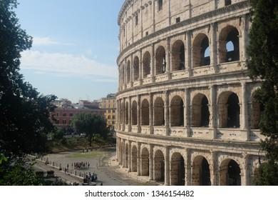 Rome / Italy - June 21 2018:The Coloseum Rome