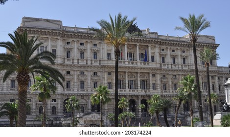 ROME, ITALY - JUNE 24, 2014: Procura Generale building hosting the Supreme Court of Italy