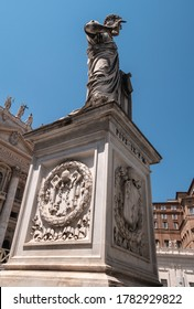 ROME, ITALY - JUNE 3, 2019: Statue of St. Peter in Vatican in the Vatican City, papal enclave of Rome, Italy.