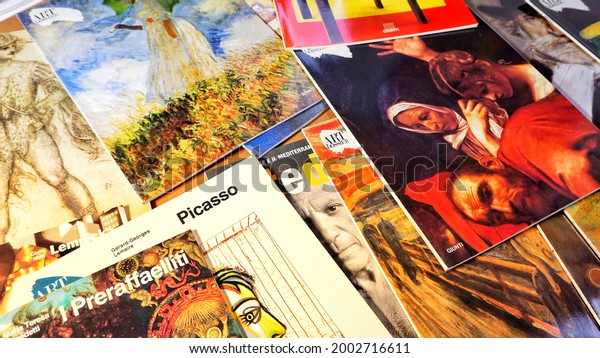 Rome, Italy - March 14, 2021, Art Dossier magazines, Exhibitions and museums, the most original trends and innovations, art explained, commented on and told by the best critics and historians.