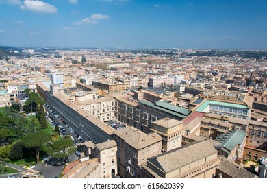 Rome, Italy - March 21, 2017: Aerial view of Vatican and aerial view of the city of Rome.
