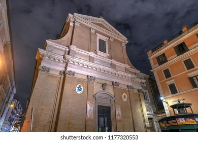 Rome, Italy - March 24, 2018: Interior of Sant'Andrea delle Fratte basilica. Sant'Andrea delle Fratte is a 17th-century basilica church dedicated to St. Andrew.