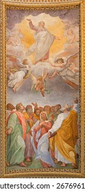 ROME, ITALY - MARCH 26, 2015: The fresco of Ascension of the Lord in the ceiling of church Chiesa di Santa Maria ai Monti by Ilario Casolani from 16. cent.