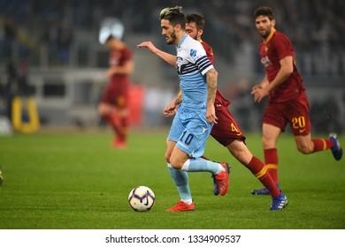 Rome Italy, Marz 02th, 2019: football Serie A match between Lazio vs Roma at Olimpic Stadium.In the pic: Luis Alberto of LAZIO