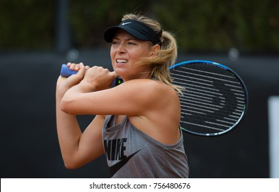 ROME, ITALY - MAY 16 : Maria Sharapova at the 2017 Internazionali BNL d'Italia WTA Premier 5 tennis tournament