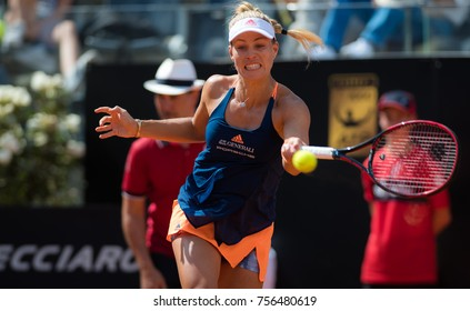 ROME, ITALY - MAY 17 : Angelique Kerber at the 2017 Internazionali BNL d'Italia WTA Premier 5 tennis tournament