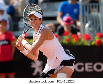 ROME, ITALY - MAY 18 : Garbine Muguruza at the 2017 Internazionali BNL d'Italia WTA Premier 5 tennis tournament