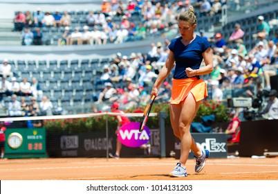 ROME, ITALY - MAY 19 : Simona Halep at the 2017 Internazionali BNL d'Italia WTA Premier 5 tennis tournament