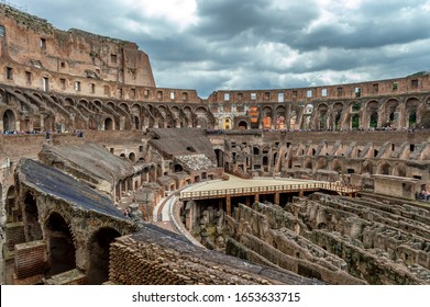 Rome / Italy - May 2, 2015: Ancient Colosseum in Rome, Italy