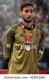 ROME, ITALY - MAY  2016 : Donnarumma after  football match  of Italy Cup Final  between Juventus vs Milan  at the Olimpic Stadium  on May 21, 2016 in Rome.