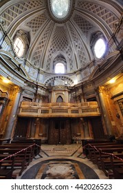 ROME, ITALY - MAY 22, 2016: baroque interior of the Saint Mary of the Prayer and Death Church