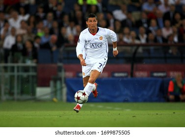 ROME, ITALY - May 27, 2009:  Cristiano Ronaldo in action  during the UEFA Champions League final match FC Barcelona v Manchester United at the Olympic Stadium.