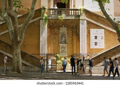 Rome, Italy- May 27, 2018: Santa Maria della Concezione dei Cappuccini. Rome, Italy.