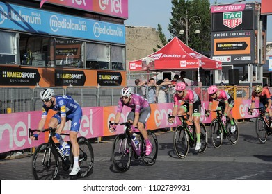 Rome, Italy - May 27th, 2018: cycler during the last lap of the 101th Giro d'Italia race
