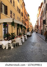 Rome Italy - Nov8, 2018: City view and photos of architectural buildings in Rome, Italy