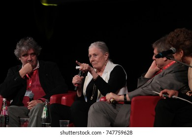 ROME, ITALY - NOVEMBER 02: Vanessa Redgrave meets the audience during the 12th Rome Film Fest at Auditorium Parco Della Musica on November 2, 2017 in Rome, Italy.