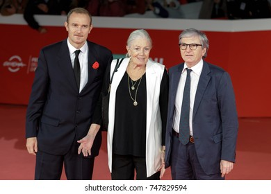 ROME, ITALY - NOVEMBER 02: Vanessa Redgrave with her son Carlo Gabriel Nero (left) walks a red carpet during the 12th Rome Film Fest at Auditorium Parco Della Musica in Rome, Italy.