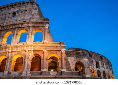 Rome, Italy - November 13 2018: Colosseo or Colosseum of Rome, Italy