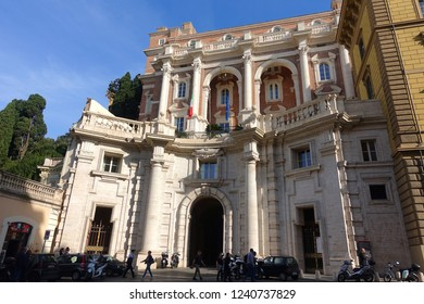 Rome / Italy - November 19 2018: Photo from Neoclassic masterpiece buildings in historic center of Rome