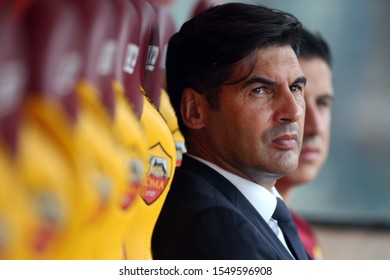 Rome, Italy - November 2, 2019: Paulo Fonseca (AS ROMA) in the Italian Serie A soccer match 11 between As Roma vs SSC Napoli, at Olympic Stadium in Rome.