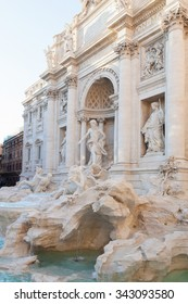 Rome, Italy - November 7, 2015: Trevi Fountain is the largest in the city and one of the most famous in the world.