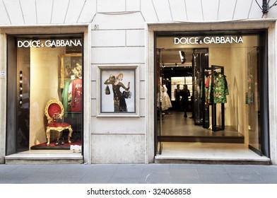 ROME, ITALY - OCTOBER 03 2015: Dolce & Gabbana fashion store at Via dei Condotti in Rome, Italy