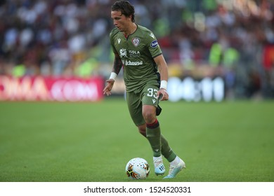 Rome, Italy - October 06,2019: L.Pellegrini (Cagliari) in action during the Italian Serie A soccer match  between AS ROMA and CAGLIARI, at Olympic Stadium in Rome.