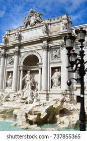 Rome, Italy - October 07, 2016; Trevi Fountain, Rome