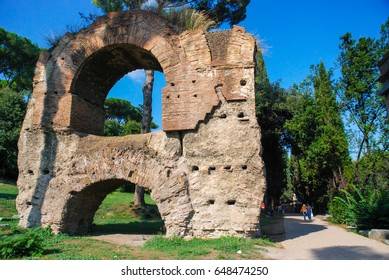 Rome, Italy - October 08, 2009: The Circus Maximus is an ancient Roman chariot racing stadium and mass entertainment venue located in Rome, Italy.