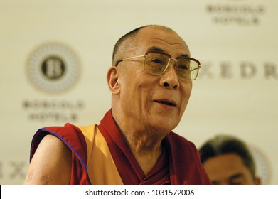 ROME, Italy - October 13, 2006: inside Hotel Boscolo. Press conference of the Dalai Lama.