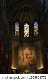 Rome, Italy - October 17, 2019: Church of the Sacred Heart of Jesus in Prati interior