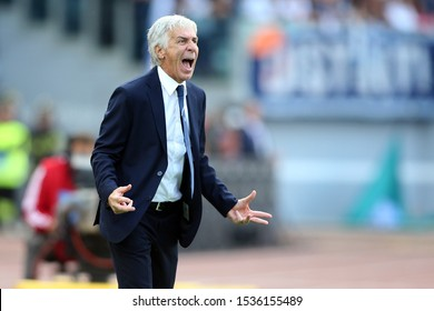 Rome, Italy - October 19, 2019: in action during the Italian Serie A soccer match between SS Lazio and Atalanta, at Olympic Stadium in Rome on 19 October 2019.