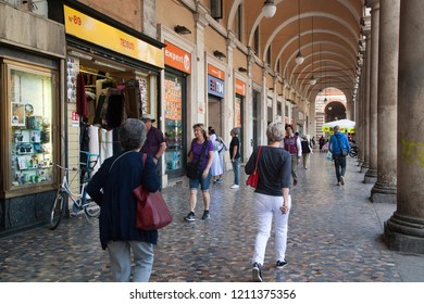 Rome, Italy - October 20 2018: Pedestrians carry shopping bags in Rome, Italy.