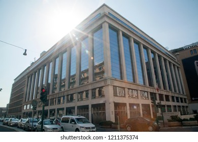 Rome, Italy - October 20 2018: Banca d'Italia, Italy's central bank, in Rome, Italy
